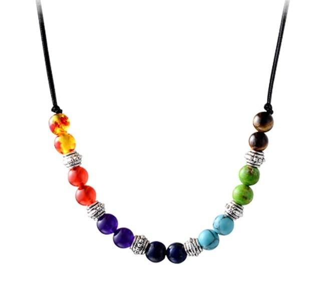 B-TOP Čakrový náhrdelník s přírodními korálky