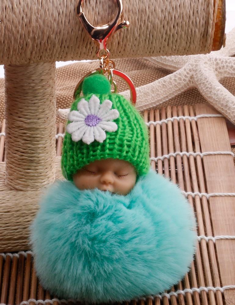 B-TOP Přívěsek na klíče, kabelku BABY BAMBULE Druh barvy: Zelená