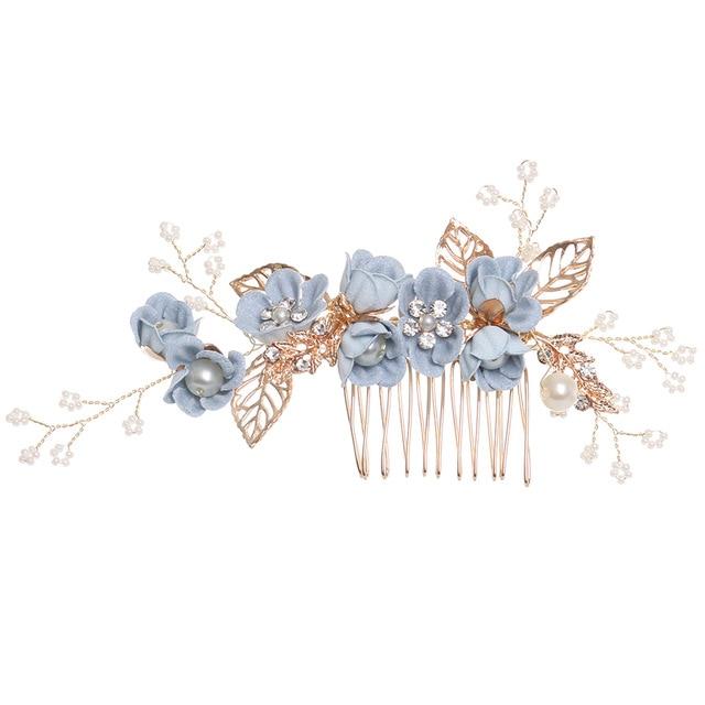 086e194c700 B-TOP hřeben do vlasů modrý květ 63131