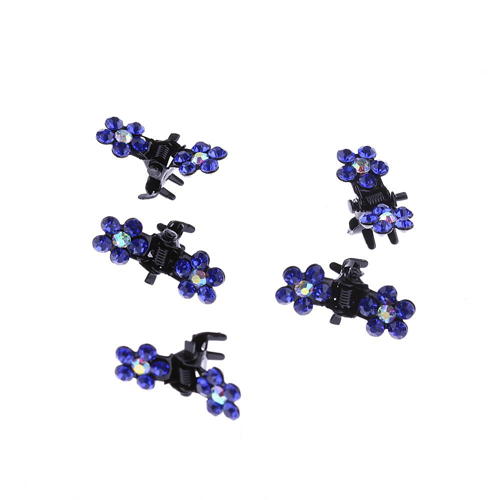 a9a888d9f57 B-TOP Dívčí sponky do vlasů s kamínky ve tvaru KVĚTŮ 12 ks - modrá