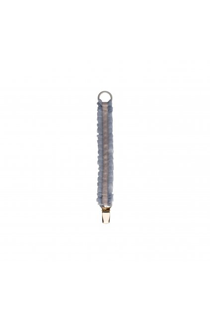 Pacifier clip grey lace