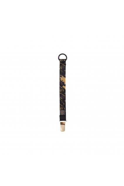 Pacifier clips Black golden