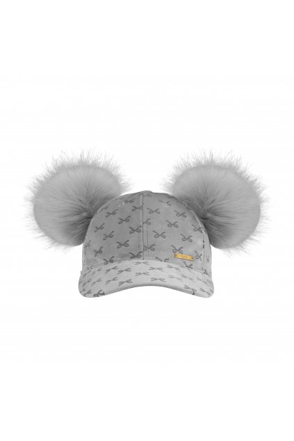 Cap Grey Bow 1