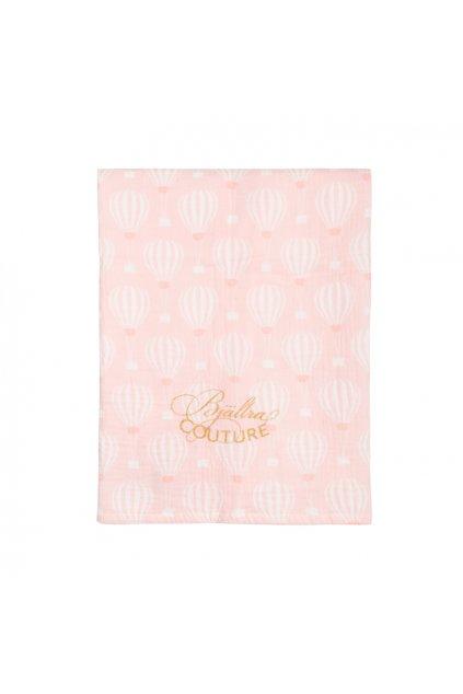 Bavlněná přikrývka Muslin Pink Sky