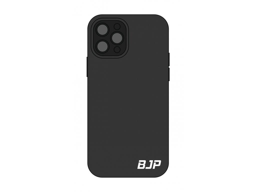Černý kryt na mobil - malé bílé logo BJP
