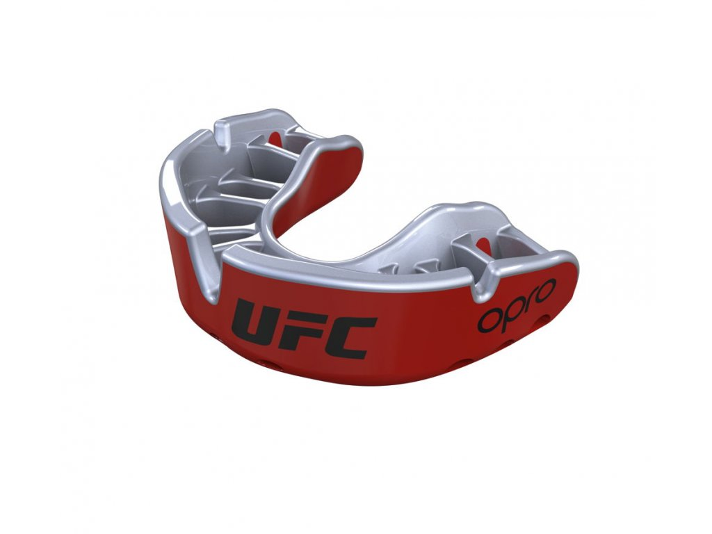 OPRO Gold UFC, červená/stříbrná1