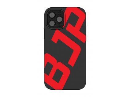 Černý kryt na mobil - velké červené logo BJP