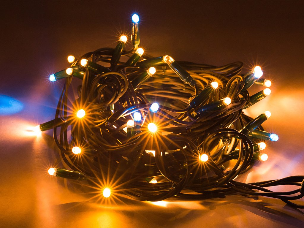 vianočná svetelná reťaz