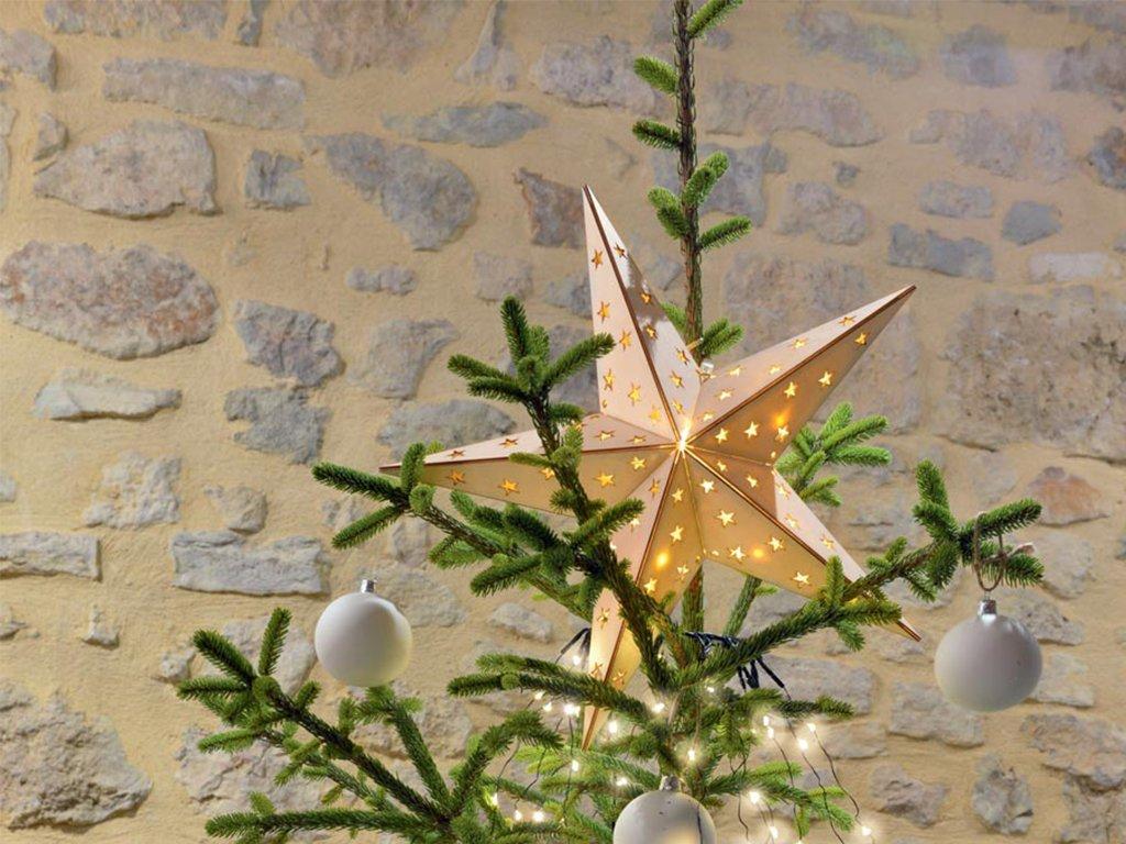 vianočná svetelná hviezda