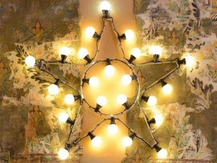 vianočná vintage hviezda
