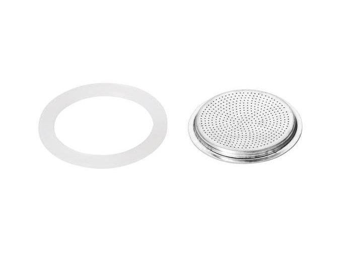 Silikonové těsnění 2ks a filtr PALOMA, 3 šálky