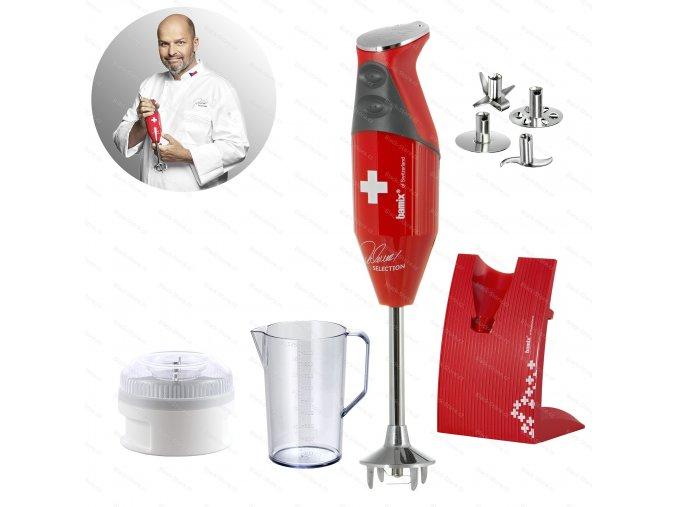 Mixér Swiss Line M200 - Pohlreich Selection, červený