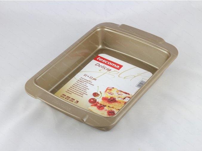 Plech na pečení hluboký DELÍCIA GOLD 32x22 cm