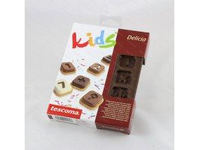 Formičky na čokoládu s vykrajovátky DELÍCIA KIDS, číslice
