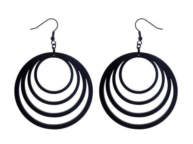 Black Cat Diamond - náušnice kruhy velké černé