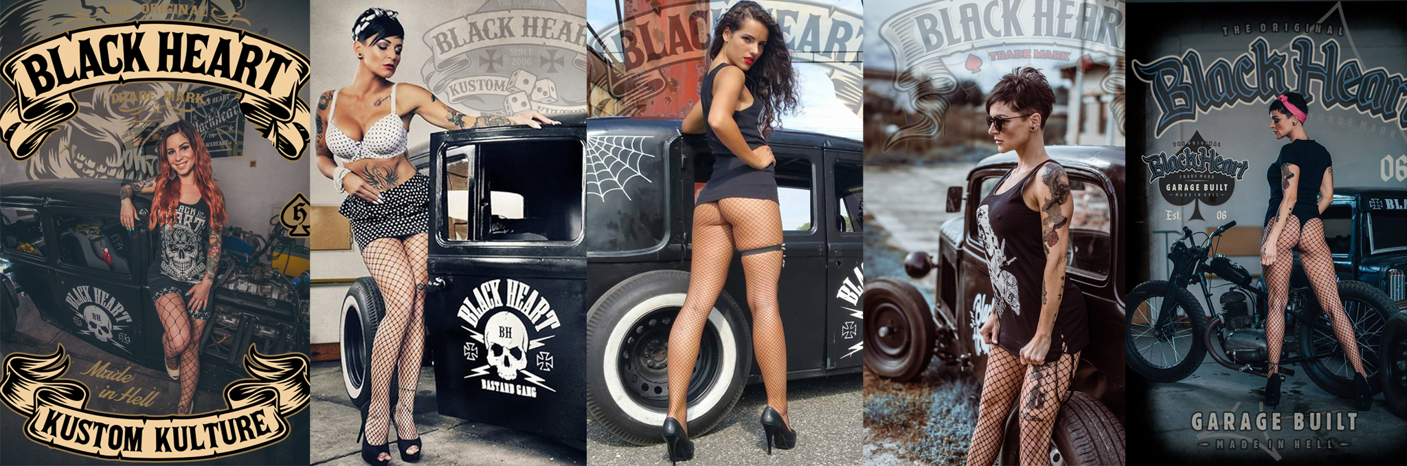 black heart hot rod chopper clothingjpg