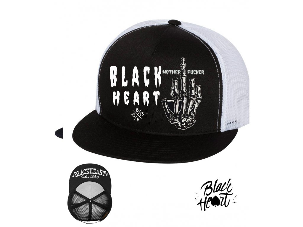 kšiltovka black heart fucker
