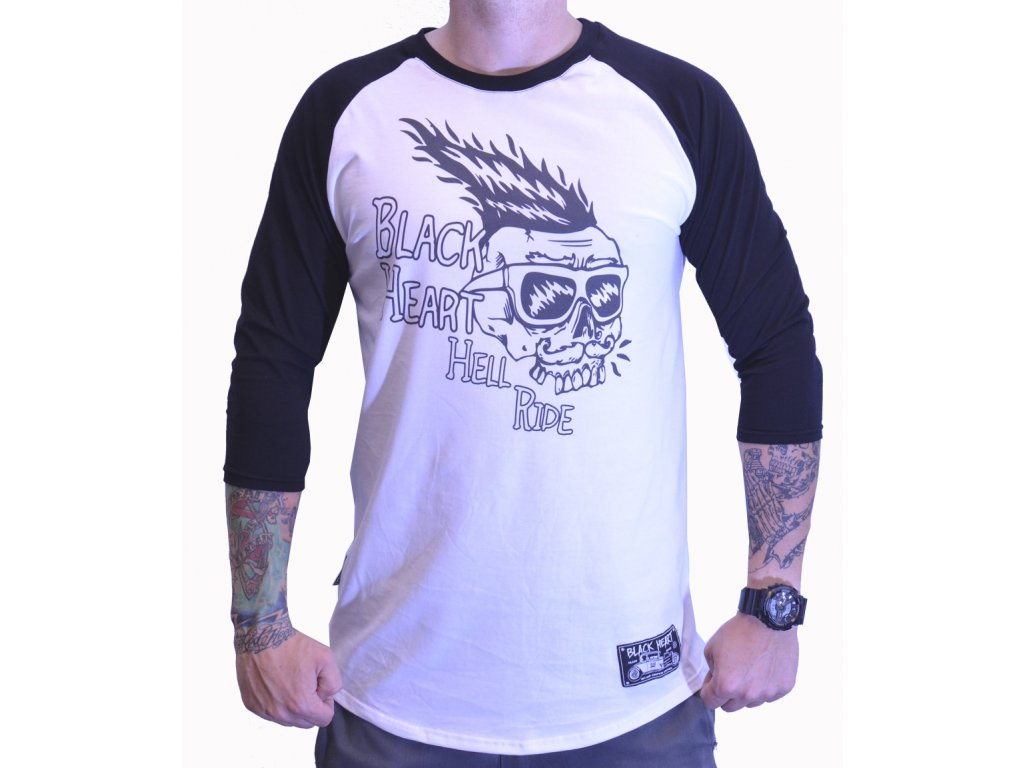 Pánský Raglan BLACK HEART HELL RIDE