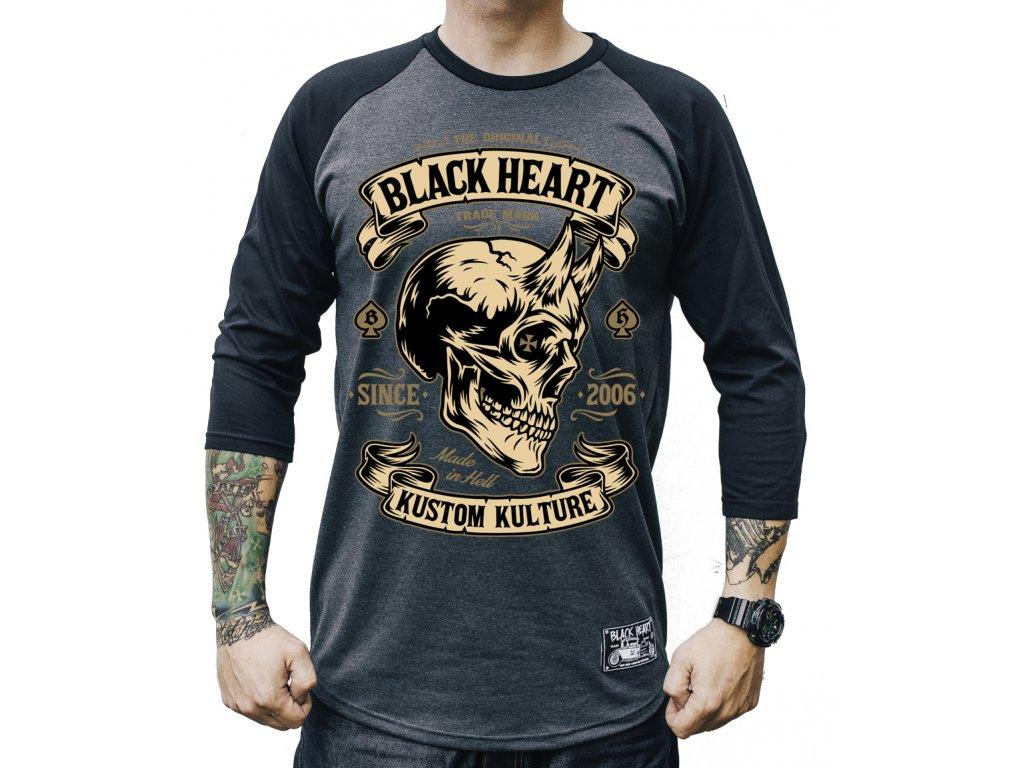 black heart triko devil skull