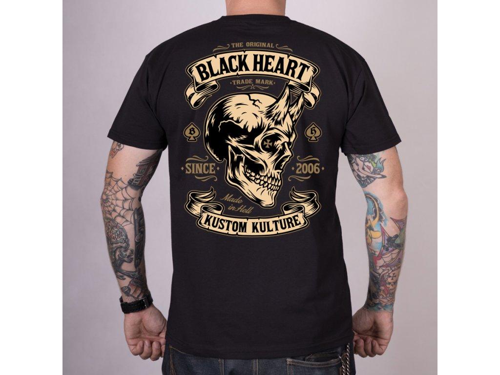 MOTORKÁŘSKÉ Triko black heart hot rod devil skull 2