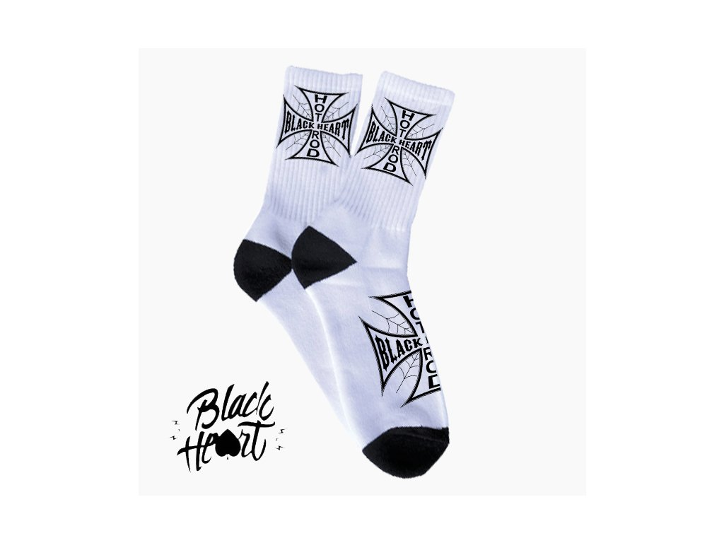 black heart cross socks