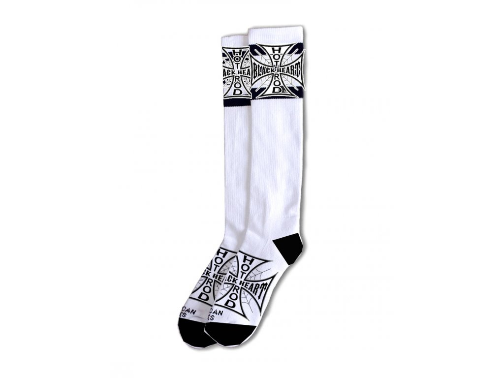 ponožky black heart cross