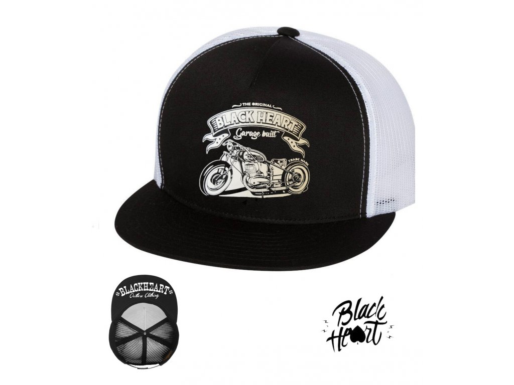 kšiltovka black heart JAWA 350 hot rod chopper clothing