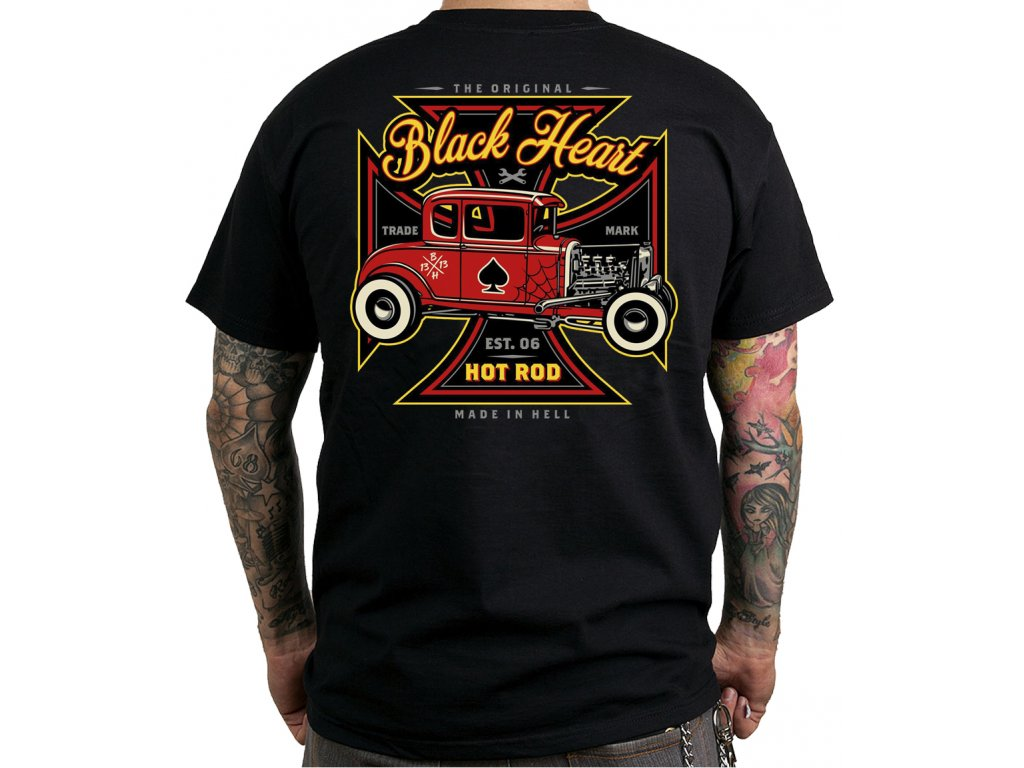 black heart hot rod red baron chopper rockabilly clothing