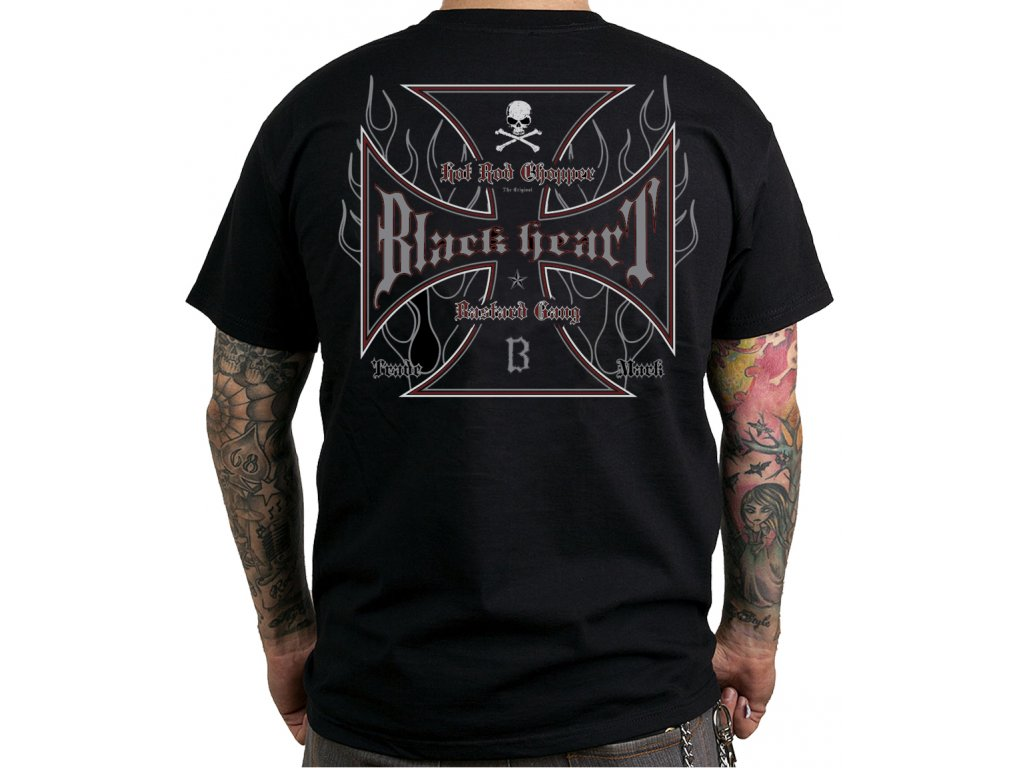 Pánské Triko BLACK HEART HOT ROD CROSS