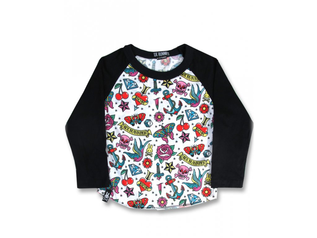SIX BUNNIES CUTTED FLASH RAGLAN