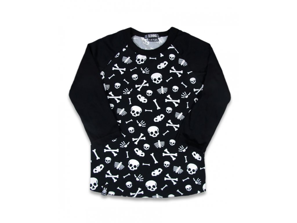 SIX BUNNIES CUTTED SKULL RAGLAN