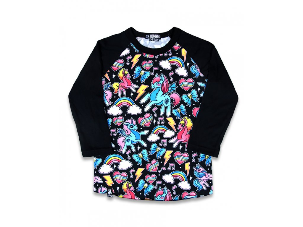 SIX BUNNIES CUTTED UNICORS RAGLAN