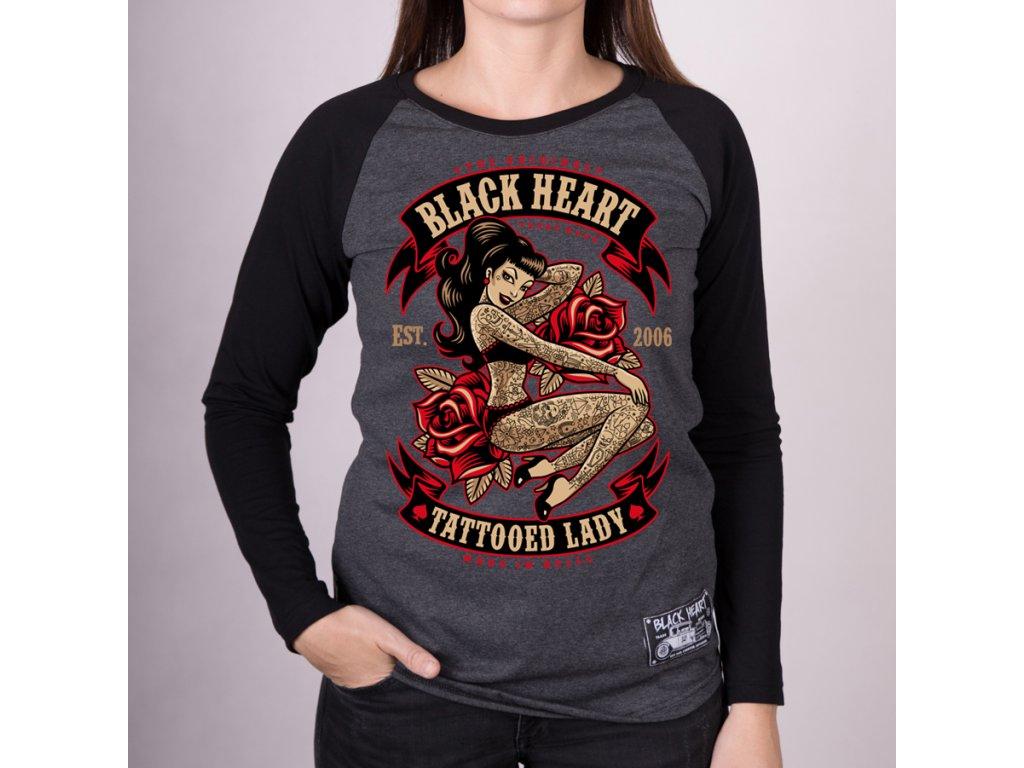 Triko BLACK HEART TATTOOED LADY RG22