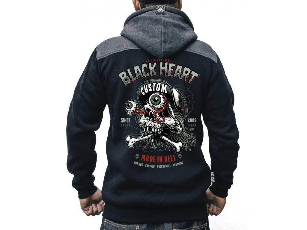 pánská mikina black heart full punk 1jpg