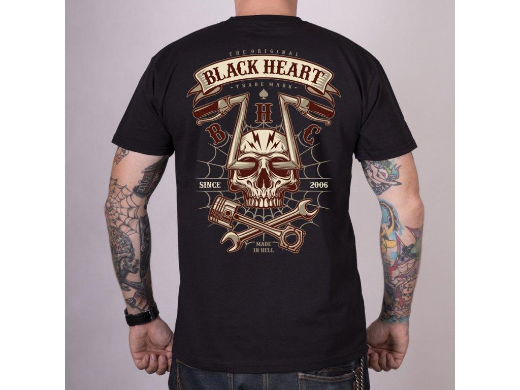 MOTORKÁŘSKÉ Triko BLACK HEARTchopper skull 2