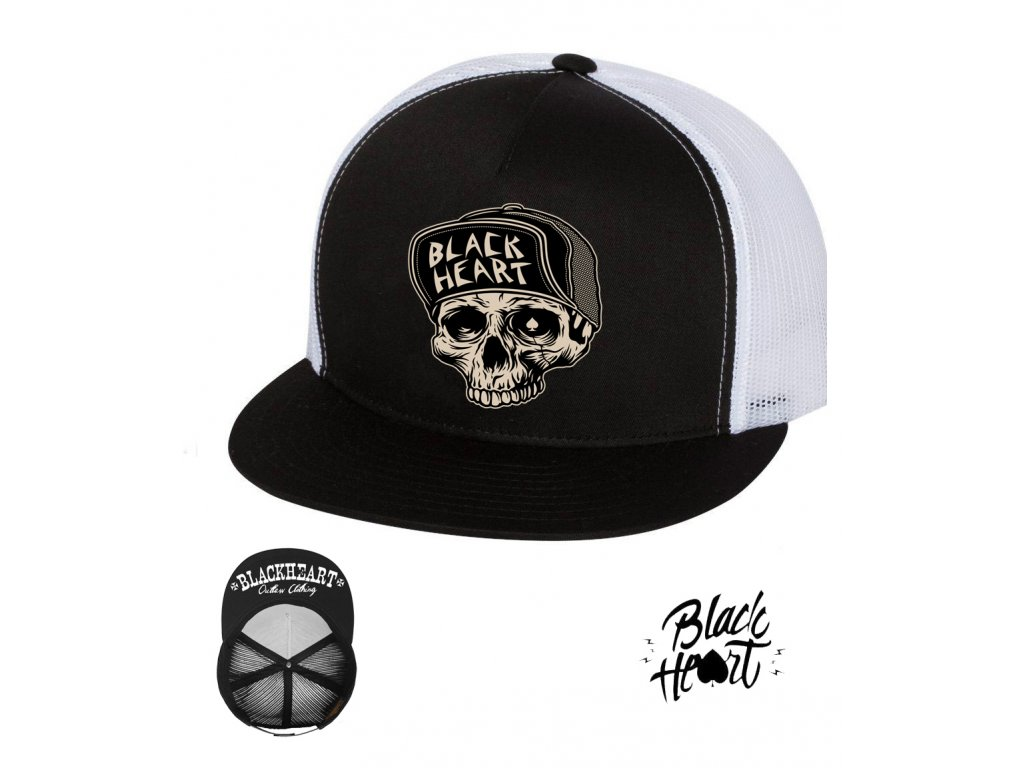 kšiltovka black heart GARAGE BUILT hot rod chopper clothing
