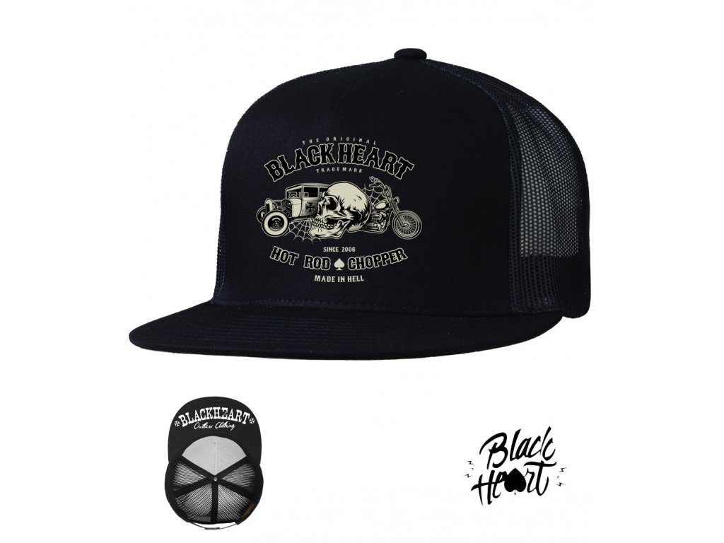 kšiltovka black revelation1 heart hot rod chopper Uclothing