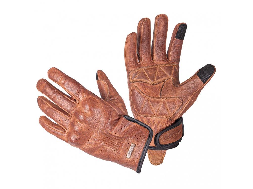 Kožené moto rukavice W TEC Dahmer