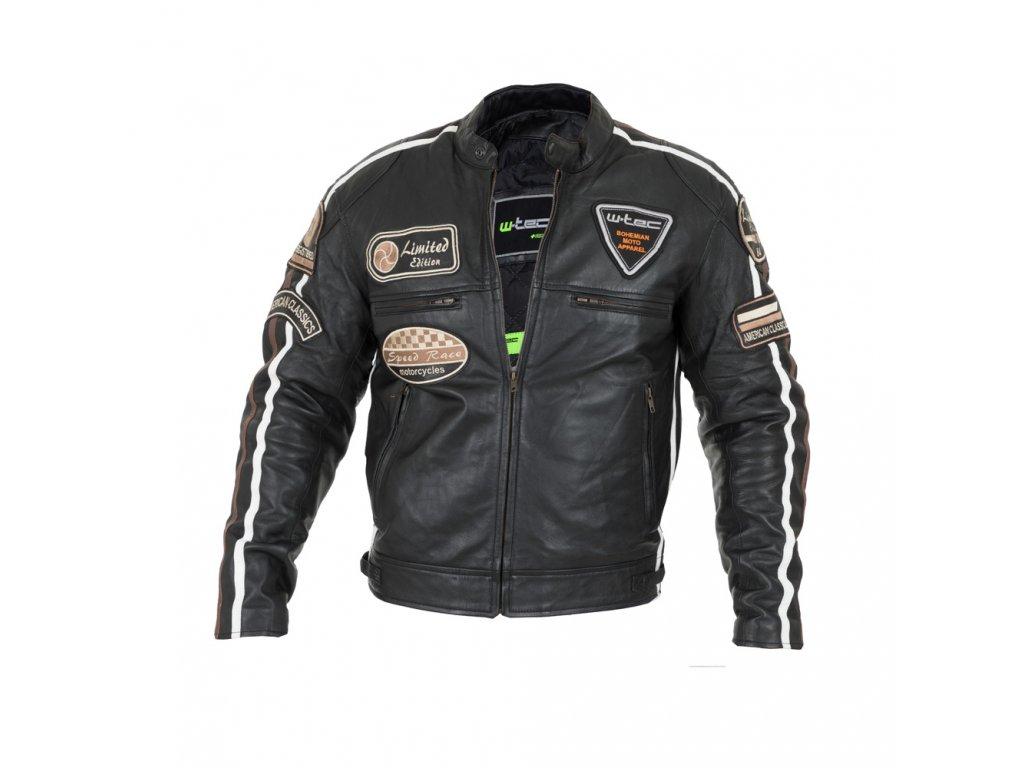 Pánská kožená moto bunda W TEC Sheawen (1)