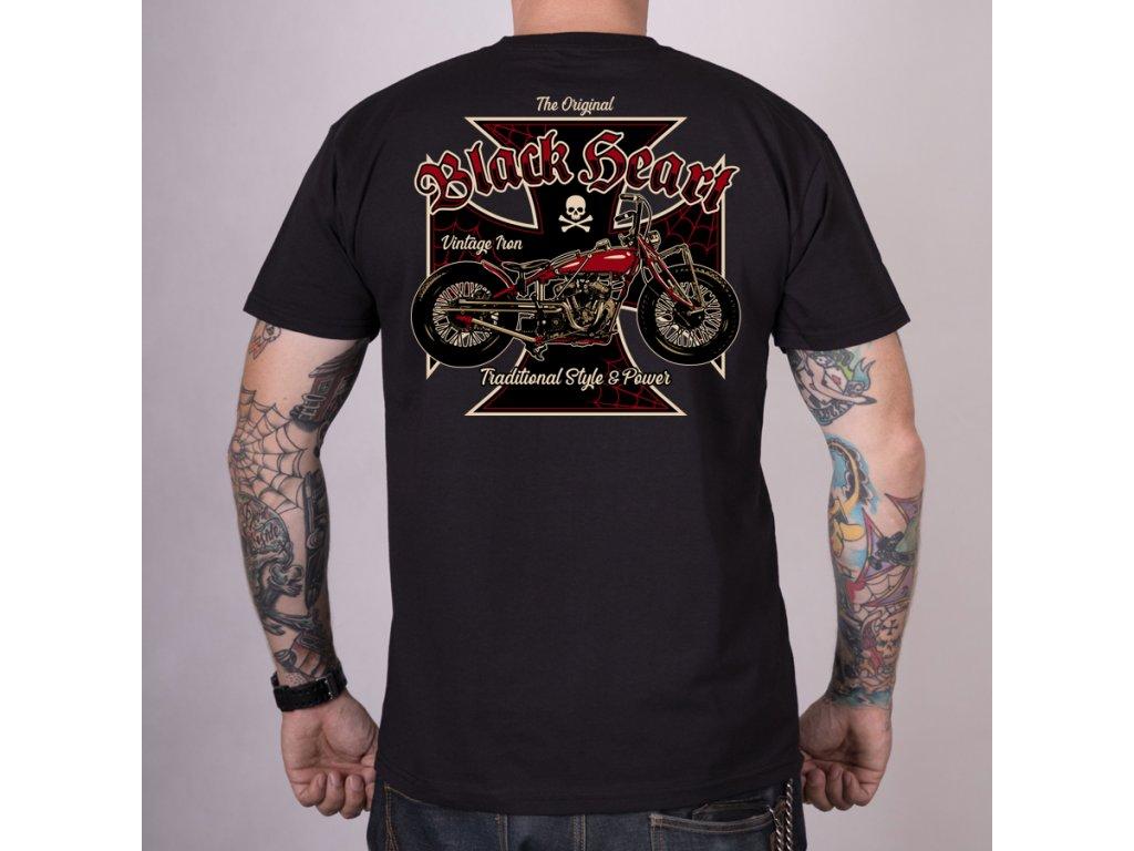 triko black heart vintage iron
