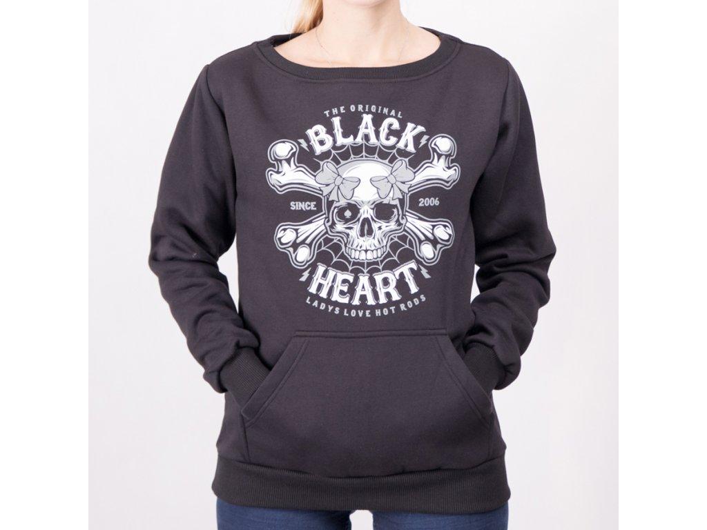 Mikina black heart dead pin up 3