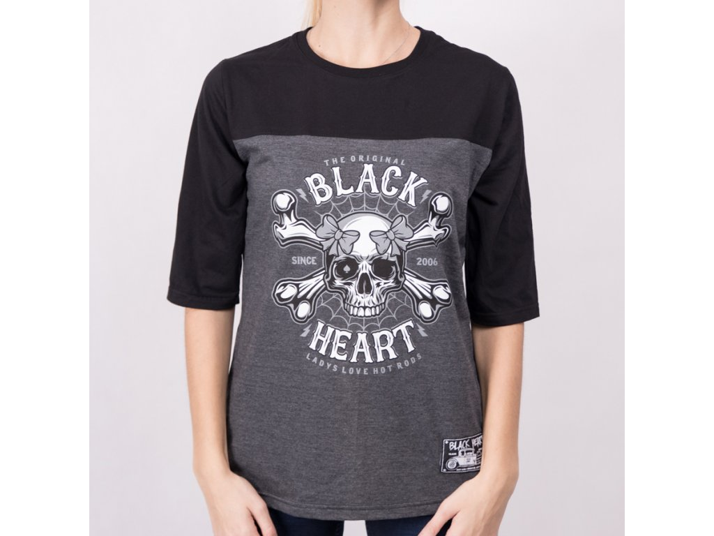 Triko BLACK HEART DEAD PIN UP2