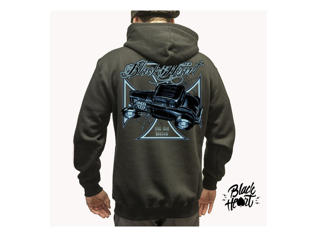 BLACK WIDOW ZIP HOOD BACK