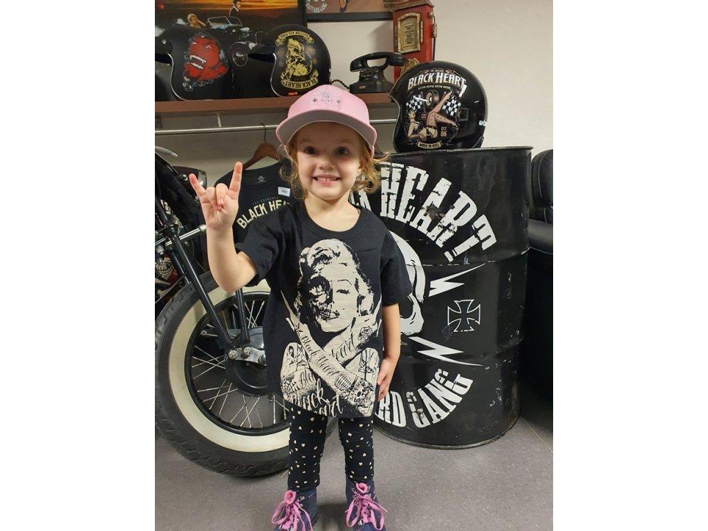dětské triko black heart skull bitch 1