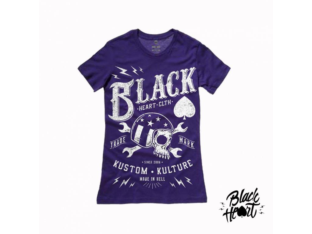 black heart WRENCH SKULL