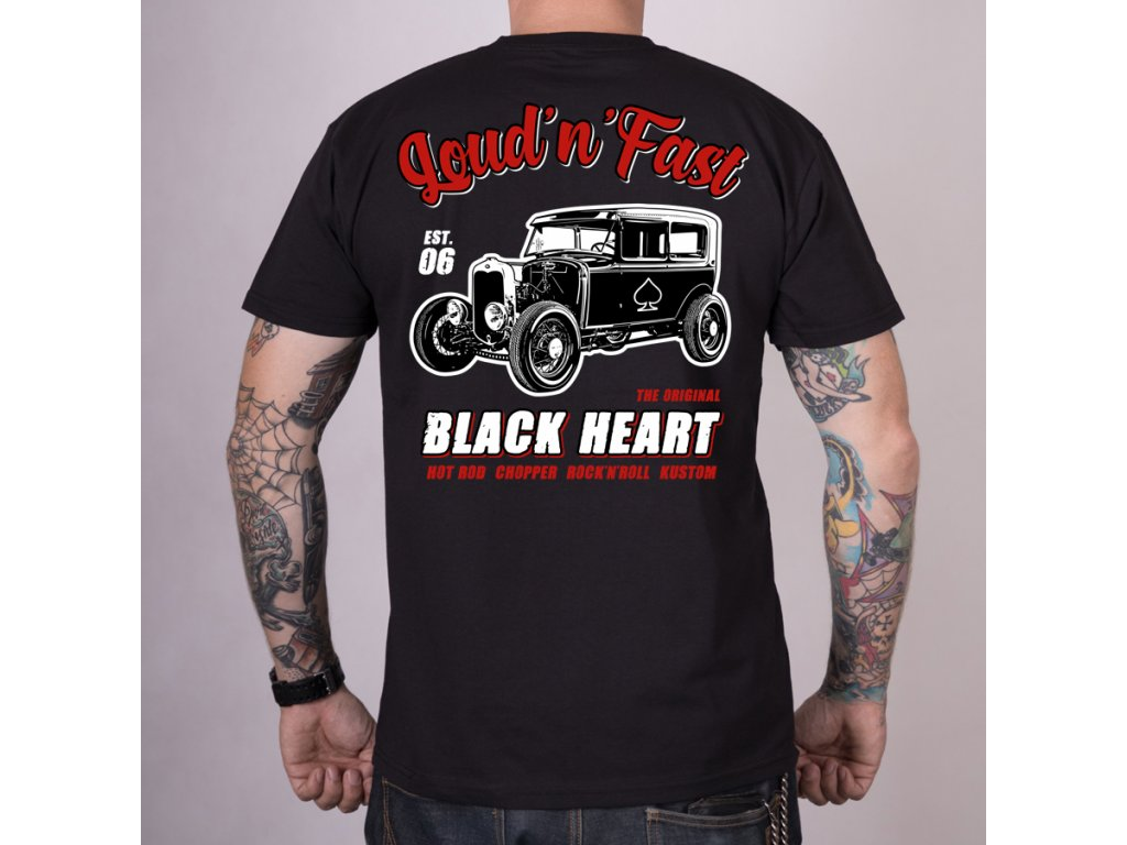 Triko black heart hot rod A 2