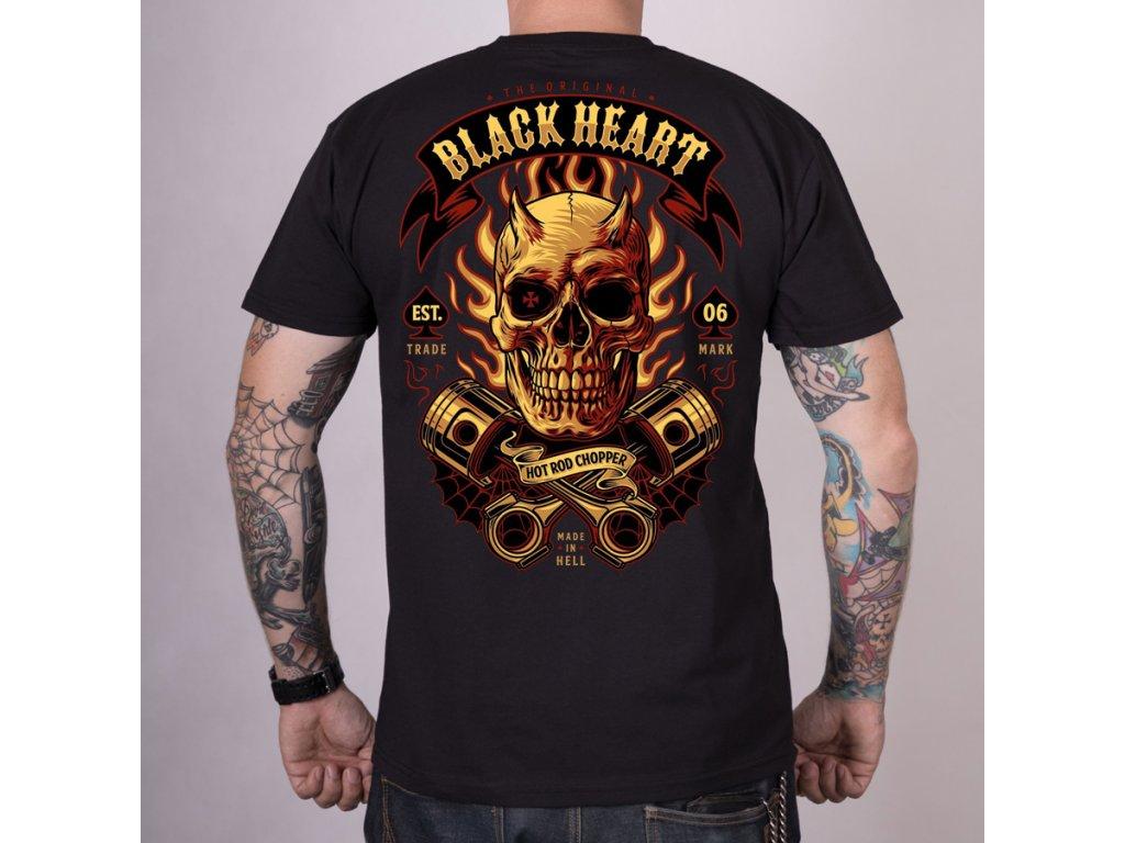 MOTORKÁŘSKÉ TRIKO BLACKHEART hell rider 2
