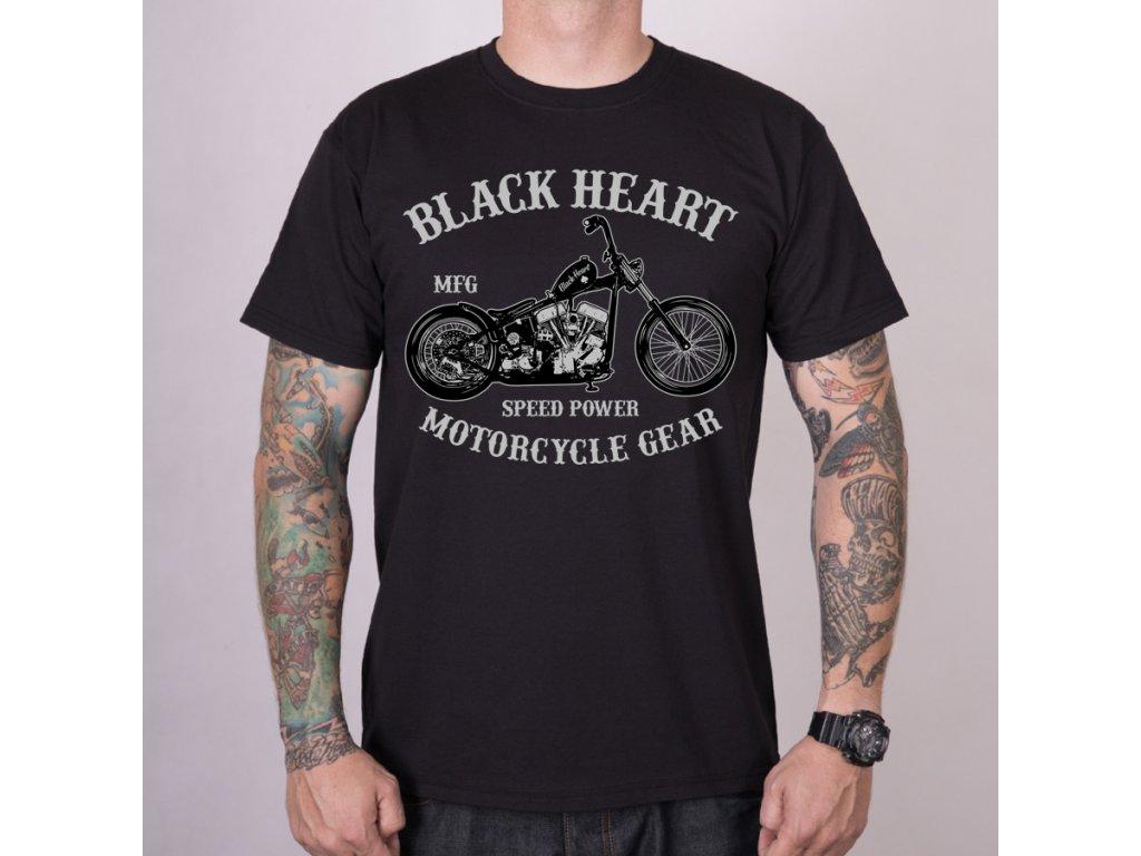 MOTORKÁŘSKÉ Triko BLACK HEART CHOPPER