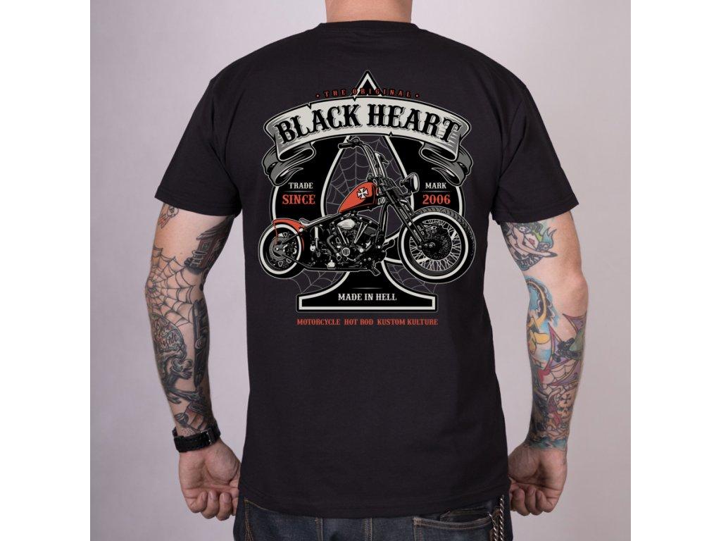 Triko black heart orange chopper 2