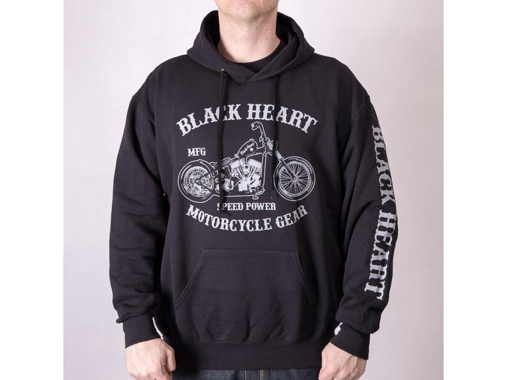 mikina black heart chopper 1